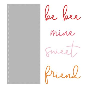 HONEY BEE STAMPS Slimline Sentiments: Stitched | Honey Cuts