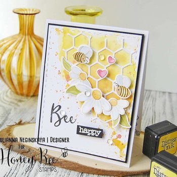 HONEY BEE STAMPS  - Busy Bees stamp  &  Die Set