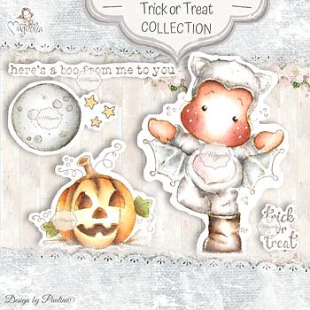 MAGNOLIA-QH-20 Autumn & Halloween Collection Art Stamp Sheet