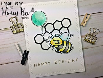 HONEY BEE STAMPS  -Hexagon Bunches | Honey Cuts