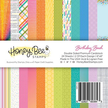 HONEY BEE STAMPS-Paper Pad 6x6 | 24 Double Sided Sheets |Birthday Bash