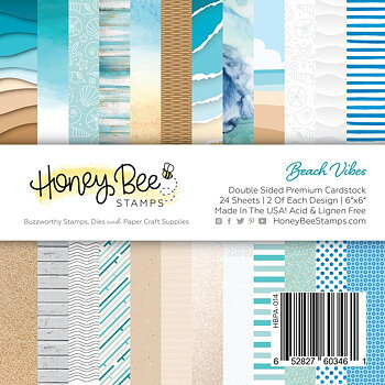 HONEY BEE STAMPS-Paper Pad 6x6 | 24 Double Sided Sheets |Beach Vibes