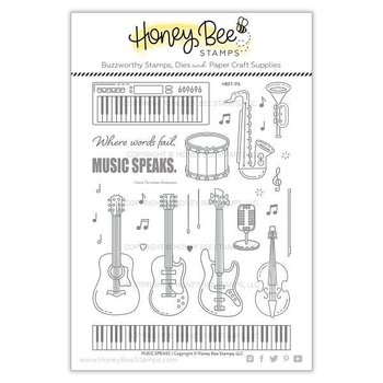 HONEY BEE STAMPS Music Speaks | 6x8 Stamp Set