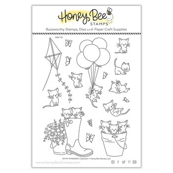 HONEY BEE STAMPS  - Oh My Whiskers  stamp  &  Die Set
