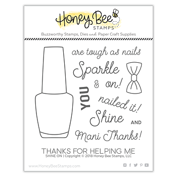 HONEY BEE STAMPS  - SHINE ON  Stamp  &  Die Set