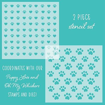 HONEY BEE STAMPS - Friends Furever Stencil  2 pcs