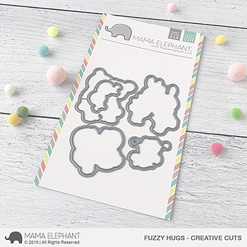 MAMA ELEPHANT-FUZZY HUGS CREATIVE CUTS