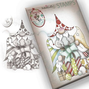 Polkadoodles -Gnome Gift Of Xmas Clear Stamp