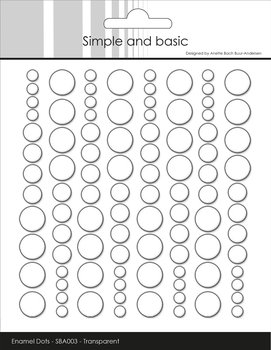 Simple and Basic Adhesive Enamel Dots Clear Water 96pcs