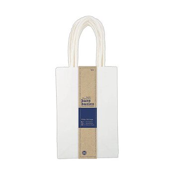 Papermania Bare Basics Small White Gift Bags