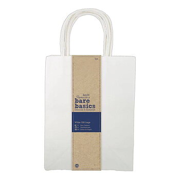Papermania Bare Basics Large White Gift Bags