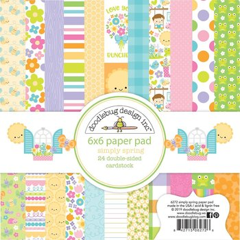 "Doodlebug Double-Sided Paper Pad 6""X6""  Simply Spring"