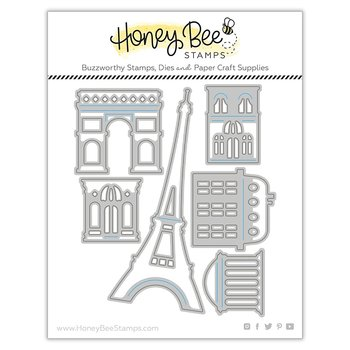 HONEY BEE STAMPS Paris Skyline Scene Builder | Honey Cuts