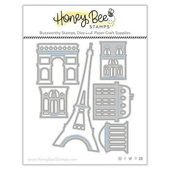 HONEY BEE STAMPS Paris Skyline Scene Builder | Honey Cuts