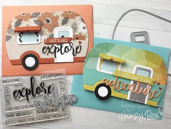 HONEY BEE STAMPS Camp Trailer Card | Honey Cuts