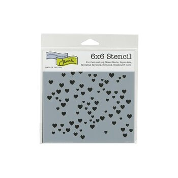 TCW -The Crafter's Workshop Micro Hearts 6x6 Inch Stencil