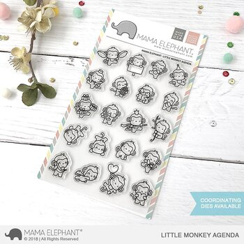 MAMA ELEPHANT-LITTLE MONKEY AGENDA- CLEARSTAMPS