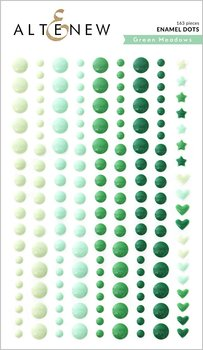ALTENEW-Green Meadows Enamel Dots