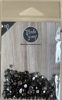 MODASCRAP  - SEMI PEARLS MATTE BLACK