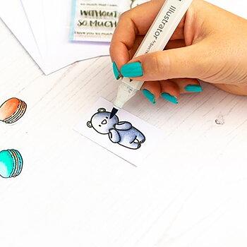 HEFFY DOODLE-Alcohol Marker Friendly A5 Cardstock