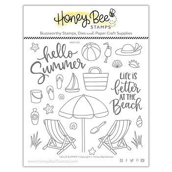 HONEY BEE STAMPS Hello Summer | 6x6 Stamp  & die Set