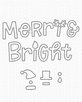 MY FAVORITE THINGS -Merry and Bright with All the Trimmings Die-namics