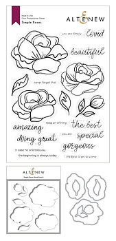 ALTENEW -Simple Roses Stamp & Die & Mask Stencil Bundle