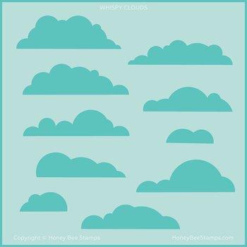 HONEY BEE STAMPS-Wispy Clouds | Background Stencil