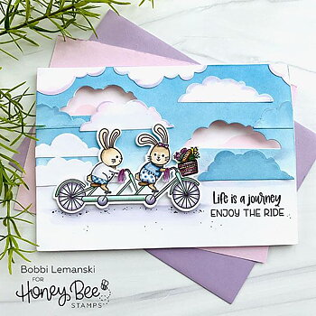 HONEY BEE STAMPS-Wispy Clouds | Background Stencil