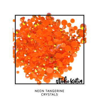 STUDIO KATIA-NEON TANGERINE CRYSTALS