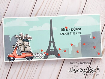 HONEY BEE STAMPS-Paris Skyline | Background Stencil