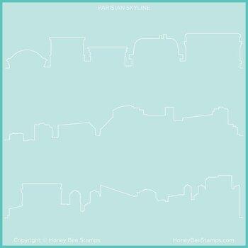 HONEY BEE STAMPS-Paris Skyline | Background Stencil