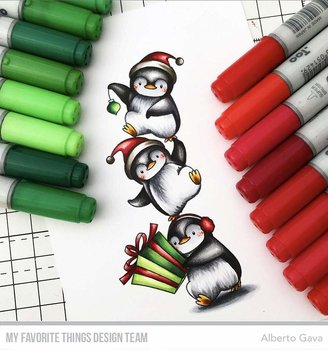 MY FAVORITE THINGS -BB Holiday Penguins