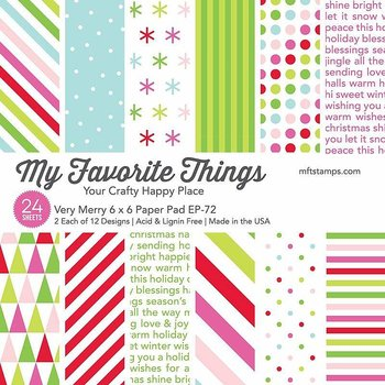 MY FAVORITE THINGS -Very Merry Paper Pad