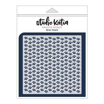 STUDIO KATIA-MINI PAWS STENCIL