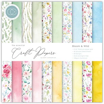 CRAFT CONSORTIUM-Essential Craft Papers 6x6 Inch Paper Pad Bloom & Wild