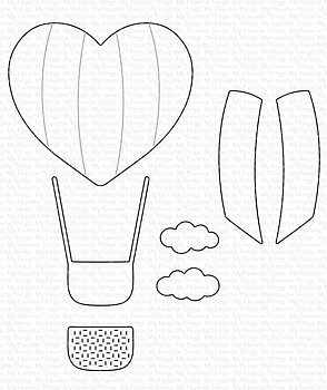 MY FAVORITE THINGS -Heart Air Balloon Die-namics