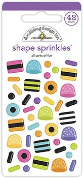 Doodlebug Design All Sorts of Fun Shape Sprinkles