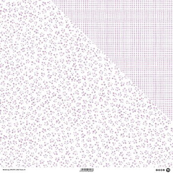 MODASCRAP - WILD FLOWERS 01 - DOUBLE  SIDED lilac