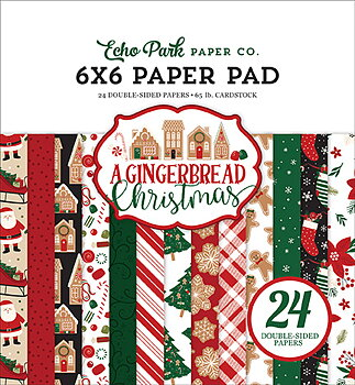 Echo Park A Gingerbread Christmas 6x6 Inch Paper Pad