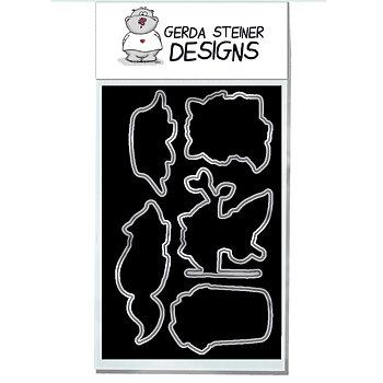 GERDA STEINER DESIGNS-Sneaky Racoons 4x6 Clear Stamp  Die Set