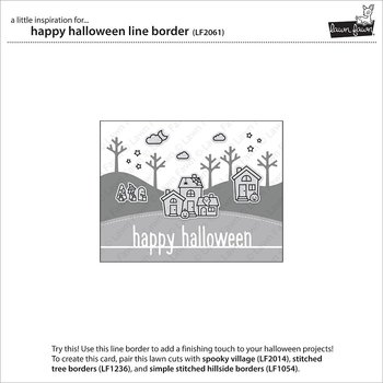 LAWN FAWN -happy halloween line border