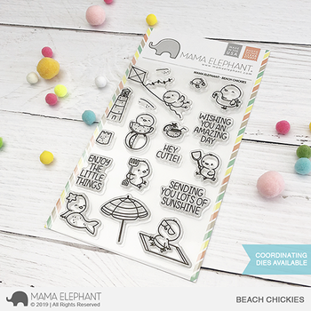MAMA ELEPHANT  -BEACH CHICKIES STAMP & DIE SET