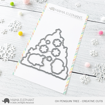 MAMA ELEPHANT-OH PENGUIN TREE STAMP & DIE SET