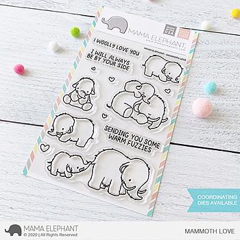 MAMA ELEPHANT-MAMMOTH LOVE  STAMP & DIE SET