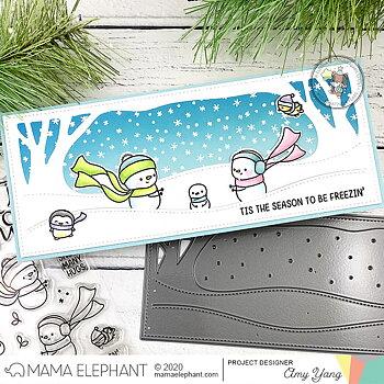MAMA ELEPHANT-LET IT SNOW STAMP & DIE SET