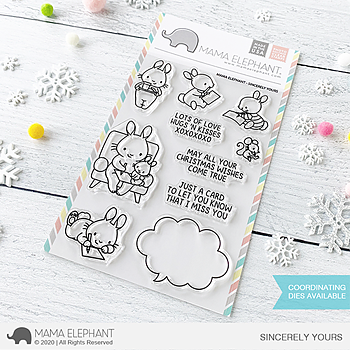 MAMA ELEPHANT-SINCERELY YOURS STAMP & DIE SET