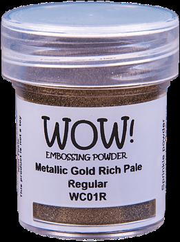 WOW EMBOSSING POWDER   -Metallic Gold Rich Pale