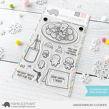 MAMA ELEPHANT-GINGERBREAD COOKIES STAMP& DIE SET