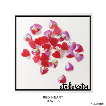 STUDIO KATIA-RED HEART CRYSTALS